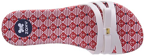 Zaxy Like Slide, Chaussures de Claquettes femme Blanc - Weiß (White/Red/White 90046)