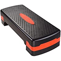 Preisvergleich für Non-slip Aerobic Stepper 27 Sport Fitness Adjust 4-6 Cardio Step Exercise Health Shock absorbing with Risers by Shopping Agora