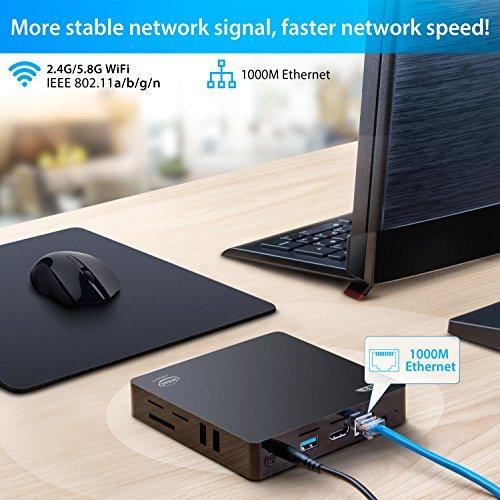 Bqeel - Z83-V Mini PC/Windows 10 Home e LINUX/Intel Atom x5-Z8350