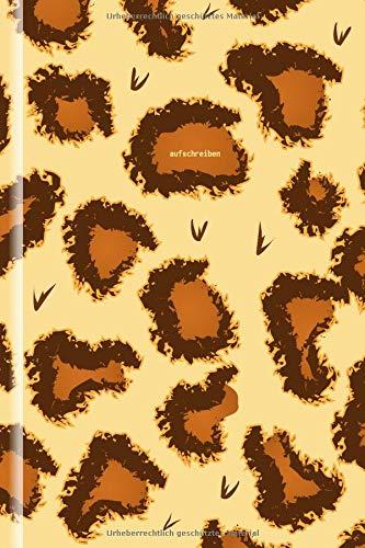 Notizbuch Gepard; 130 Seiten, liniert, Creme-Ton; 6x9 (ca DIN A5);  Cover in Gepard-Optik (Fell) ()