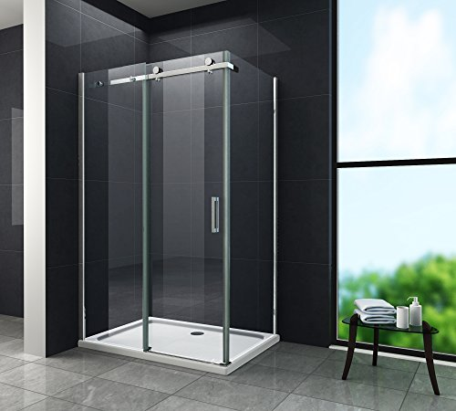8 mm Designer Duschkabine Duschabtrennung Schiebetür Dusche Echt Glas 120 x 80 x 195 cm TELA ohne Duschtasse