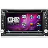Con cámara y mapa coche. Doble Din 6,2pulgadas coche GPS Navigation En Dash coche reproductor de DVD estéreo para coche pantalla táctil con Bluetooth USB SD MP3Radio para coche universal