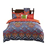 Vaulia Duvet Cover Set, Bohemia Exotic Patterns Design