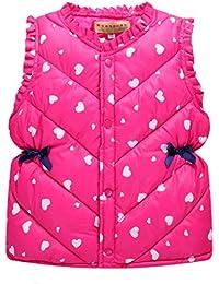 Abrigo acolchado para bebé niña , Yannerr Chica invierno sólidas chaleco chaqueta sudadera capa ropa outwear gruesa caliente