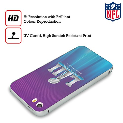 Ufficiale NFL Testo Minnesota 2 2018 Super Bowl LII Argento Cover Contorno con Bumper in Alluminio per Apple iPhone 6 Plus / 6s Plus Lo Splendore Delle Luci Del Nord 2