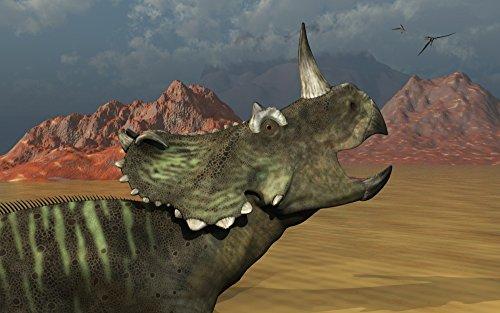 Mark Stevenson/Stocktrek Images – A lone Centrosaurus dinosaur calling out to find its herd. Photo Print (45,72 x 28,45 cm)