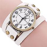 Hot Selling! CCQ Brand Vintage Cow Leather Bracelet Watch Men Women Wristwatch Quartz