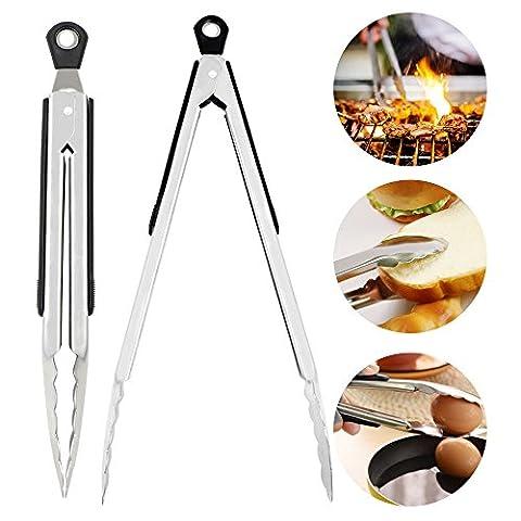 Pince Barbecue - Pinces de cuisine,Bukm Pinces en silicone pour