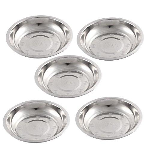 sourcingmap-Cuisine-Inox-Assiette-17-cm-x-3-cm-Lot-de-5-Argent