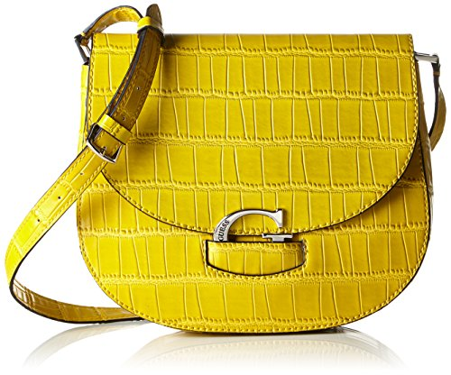 Guess Lexxi Saddle Bag Borsa a Spalla, Donna, Giallo (Citrine)