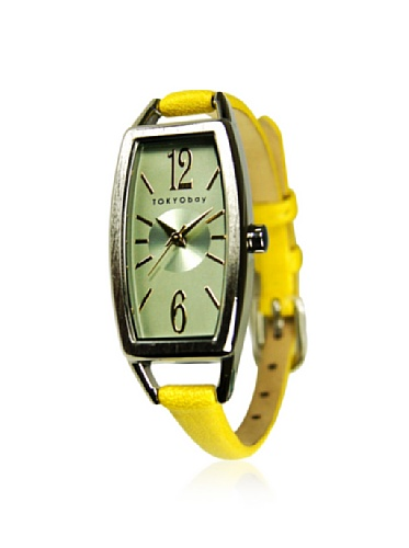 tokyobay-womens-t218-yel-levere-yellow-green-leather-watch