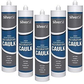 Decorators Caulk 300ml - Gap Filler - White Painters Caulk x 5