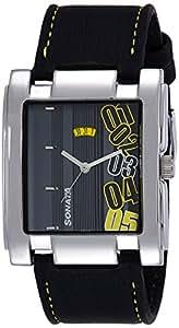 Sonata Yuva Analog Black Dial Men's Watch -NK7946SL03