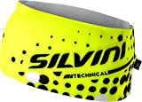SILVINI Erwachsene Dünnes Stirnband Piave, gelb (Neon-Black), S/M, 3215-UA715-71082