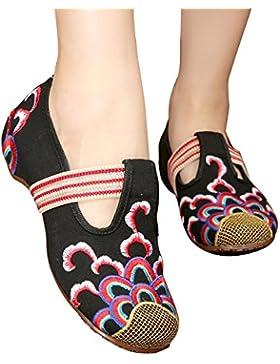 ALUK- Vento nazionale - Scarpe ricamati scarpe piane pigro tendine Shoes ( dimensioni : 39 )