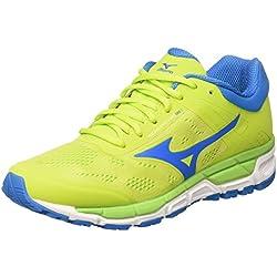 Mizuno Synchro MX, Zapatillas de Running Para Hombre, Multicolor (Limepunch/Blueaster/Jasminegreen), 43 EU