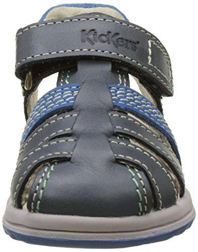 Kickers Platinium, Sandales Bébé Garçon Bleu (Bleu Foncé Bleu)