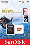 #3: SanDisk 64GB Extreme MicroSDXC UHS-I / V30 / U3 / Class 10 Memory Card with SD Adapter Action Cameras & Smartphones