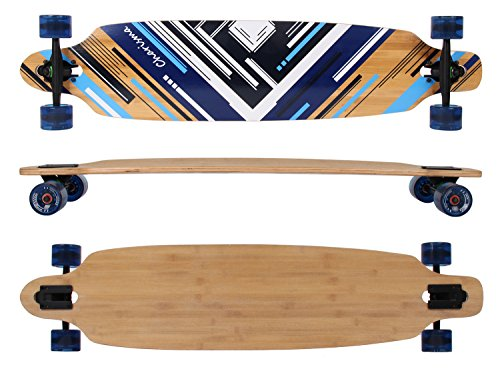 MAXOfit® Deluxe Longboard Charisma Blue No. 02, Drop Through, 106,5 cm, 7 Schichten, ABEC11