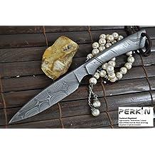 Navaja con funda, hecha a mano, cuchillo de caza