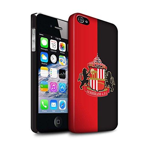 Offiziell Sunderland AFC Hülle / Matte Snap-On Case für Apple iPhone 4/4S / Pack 6pcs Muster / SAFC Fußball Crest Kollektion Rot/Schwarz