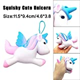Newest Stress Reliever PU Toys, Kanpola Hot Sale Exquisite Fun Cute Blue Unicorn Scented Squishy Charm Slow Rising 11cm Kids Adult Simulation Decompression Toy Gifts Hand Pillow/ Interior Decorat/ Vent Emotions
