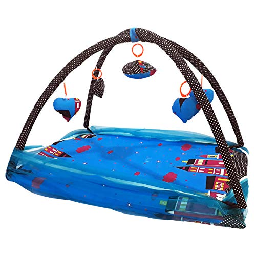 Folding Baby Moskitonetz Infant Pop Up Reise Wiegenbett Tragbare Krippen Bett, Faltbare Tragbare Krippe Netting für Baby (Blau/Schwarz) - Schwarz Netting-bett