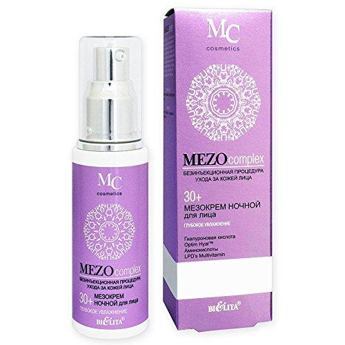 Belita-Vitex MEZOcomplex Nachtcreme 30+, 50ml, mit Hyaluronsäure, OptimHyal(TM)-Komplex, Vitaminen...