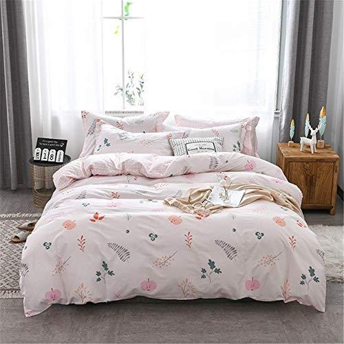 SHJIA Bettwäsche-Sets aus ägyptischer Baumwolle Bettlaken Duver Bettbezug Kissenbezug Soft King Queen Full Twin C 200x230cm