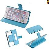 K-S-Trade Flipcover für Huawei P20 Lite Dual-SIM Schutz Hülle Schutzhülle Flip Cover Handy case Smartphone Handyhülle blau