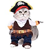 Pawz Road Disfraz para mascota de Piratas del Caribe, sudadera con capucha