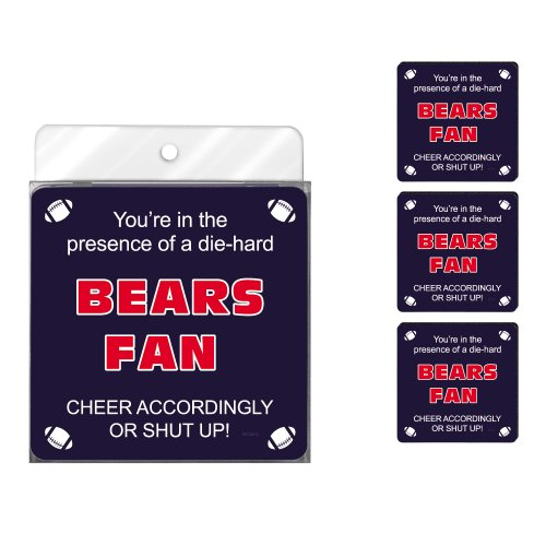 Tree-Free Greetings NC38112 Bears Football Fan 4 Stück kunstvolle Untersetzer Set -