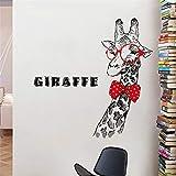 Aha Yo Dekorative Wand Kleben Kreative Kinder Fahrbare Wohnzimmer Hintergrund Wand Giraffe 60Cm X 90Cm
