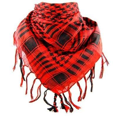 *** PROMOTION *** Foulard Palestinien - Keffieh - Chèche - Pashmina - Rouge et Noir