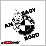 Aufkleber Set - BMW Baby an Bord 25 cm + Bonus Testaufkleber