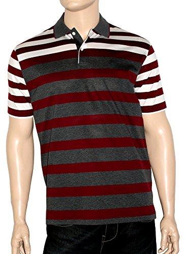 Modisches,sportives,sehr edles,hochwertiges Herren Poloshirt,Knopfleiste,aus 100% doppelt merzerisierter Baumwolle. Anthrazit/Bordeaux/Weiß