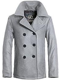 Brandit Pea Coat Oversize Jacke schwarz