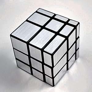 Sodial r rubik 39 s cube miroir 3x3x3 noir argent for Cube miroir habitat