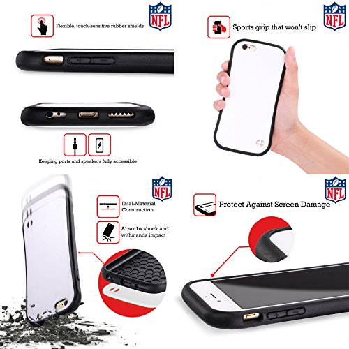 Ufficiale NFL Righe 2017/18 Oakland Raiders Case Ibrida per Apple iPhone 6 / 6s Righe