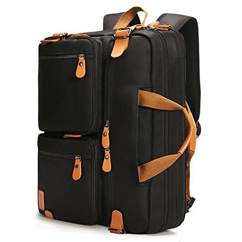 17 Zoll Wasserdichte Laptoptasche 3 in 1 Laptop Rucksack Arbeitstasche Aktentasche Umhängetasche Tragetasche (Nylon-17-notebook-tragetasche)