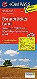 KOMPASS Fahrradkarte Osnabrücker Land, Naturpark TERRA.vita, Nördlicher Teutoburger Wald: Fahrradkarte. GPS-genau. 1:70000: Fietskaart 1:70 000 (KOMPASS-Fahrradkarten Deutschland, Band 3035)