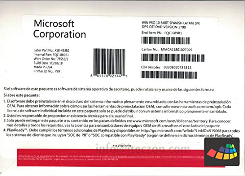 licencia windows 10 pro amazon