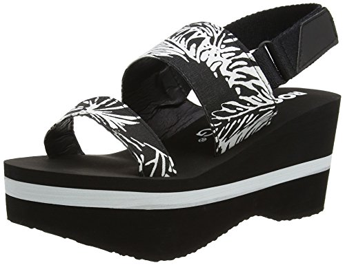 Rocket Dog Damen Rocca Wedge Sandalen Schwarz (Heatwave Black)