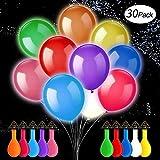 XQ-XQ Luminous Balloons,LED-Ballons, Leuchten Ballons-10 Farben, Flashing dauert 12-24 Stunden, ideal für Wedding Christmas Birthday Balloon Party Decoration (30 Pack)