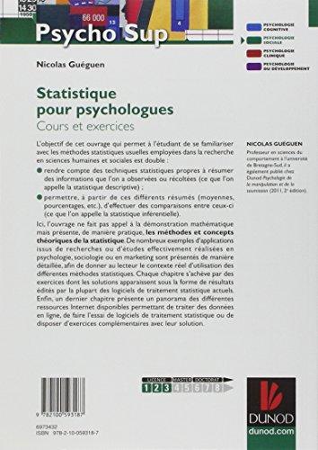 Statistique pour psychologues - Cours et exercices