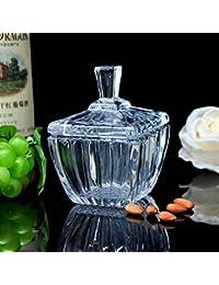 Creativa dulce tarro de cristal jar bote Tarro de snack joya depósito de claves tarros de