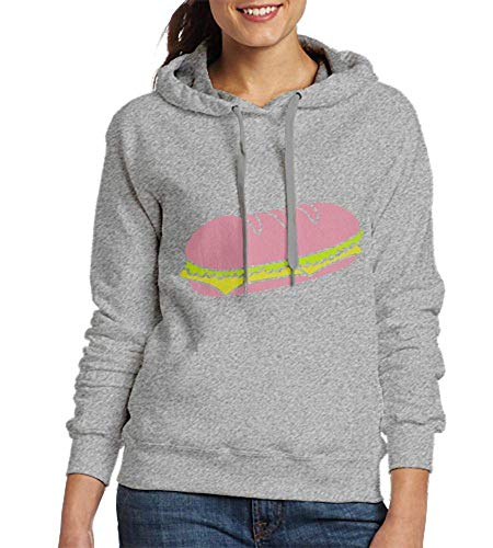 HelloWorlduk Sweatshirts for Women Fastfood Sandwich Design Womens Hoodies