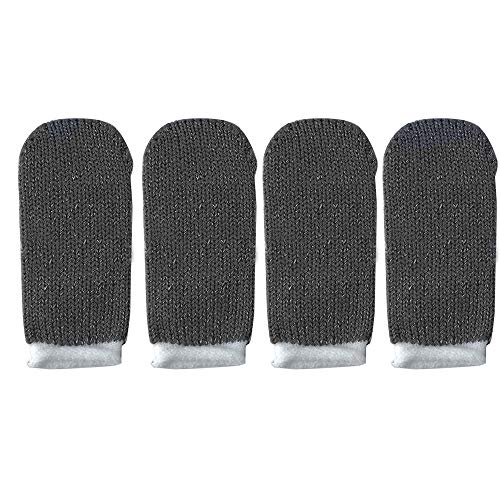 Fefaxi Schweißfeste Handschuhe für Gaming, Mobile Finger Sleeve Touchscreen-Gamecontroller (grau) -
