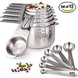 Messbecher und Löffel Set 13 Stück von HOMEASY Küche Messgerät