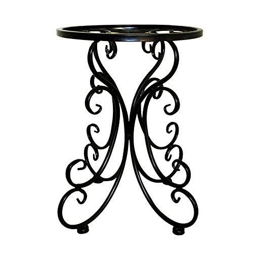 Sunnyushine portavasi in ferro da interno e per giardino esterno portafiore semplice in ferro battuto tondo tipo di pavimento del balcone scaffale del vaso di fiori del salone
